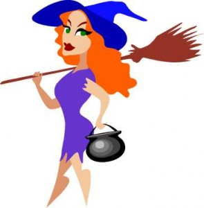 witch cartoon cute
