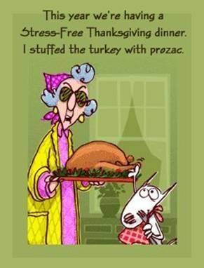 Turkey stuffed with prozac