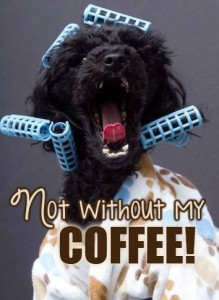 Not without my coffee