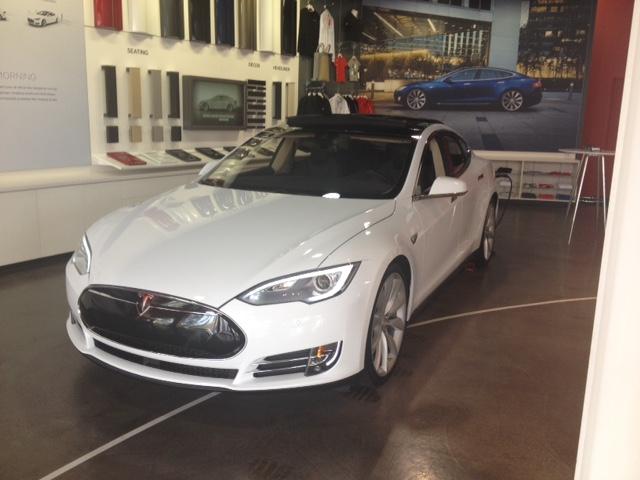Tesla at Fashion Island