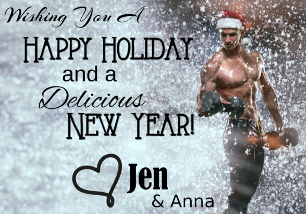Holidays and celebrations New year Christmas sports bodybuilding healthy lifestyle - Muscular handsome sexy Santa Claus